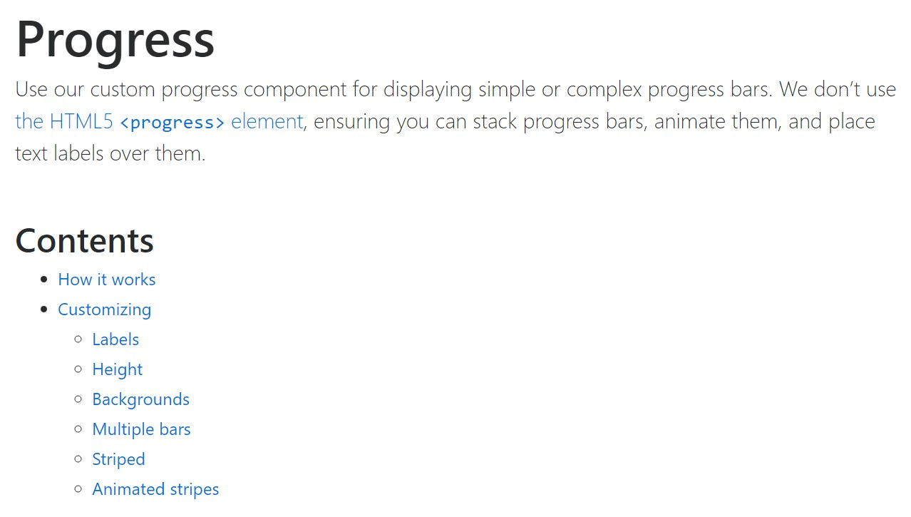 Bootstrap progress bar  authoritative  records