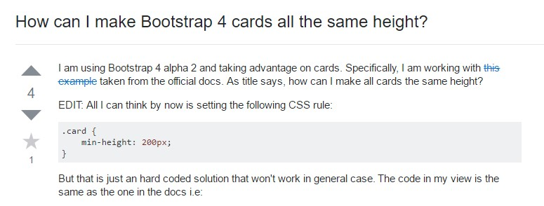 Insights on how can we  set up Bootstrap 4 cards just the  identical  height?