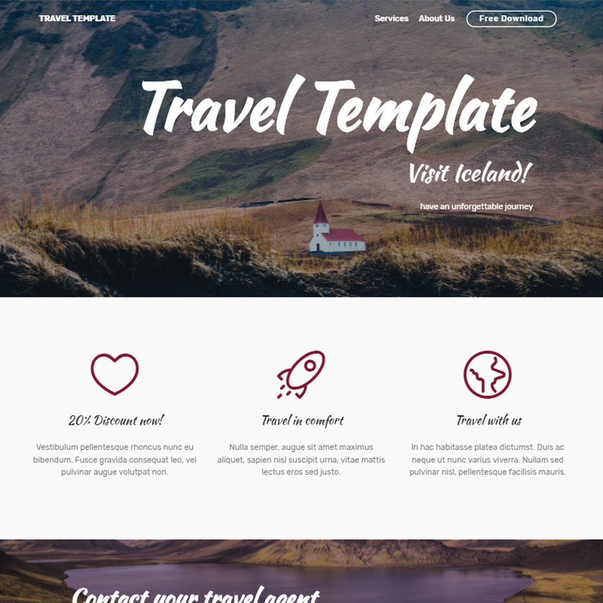 HTML Bootstrap Travel Templates
