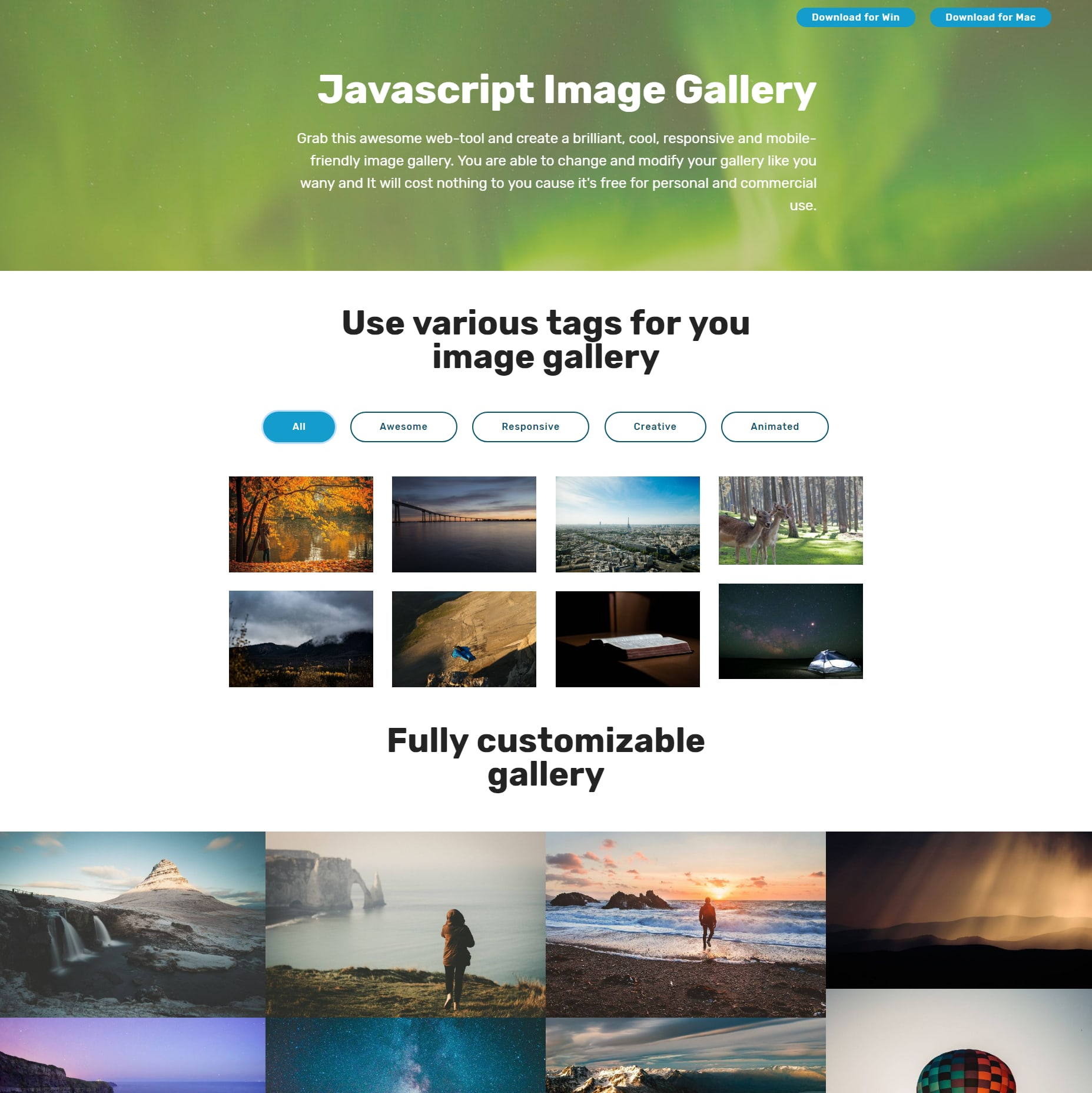 CSS Bootstrap Picture Gallery