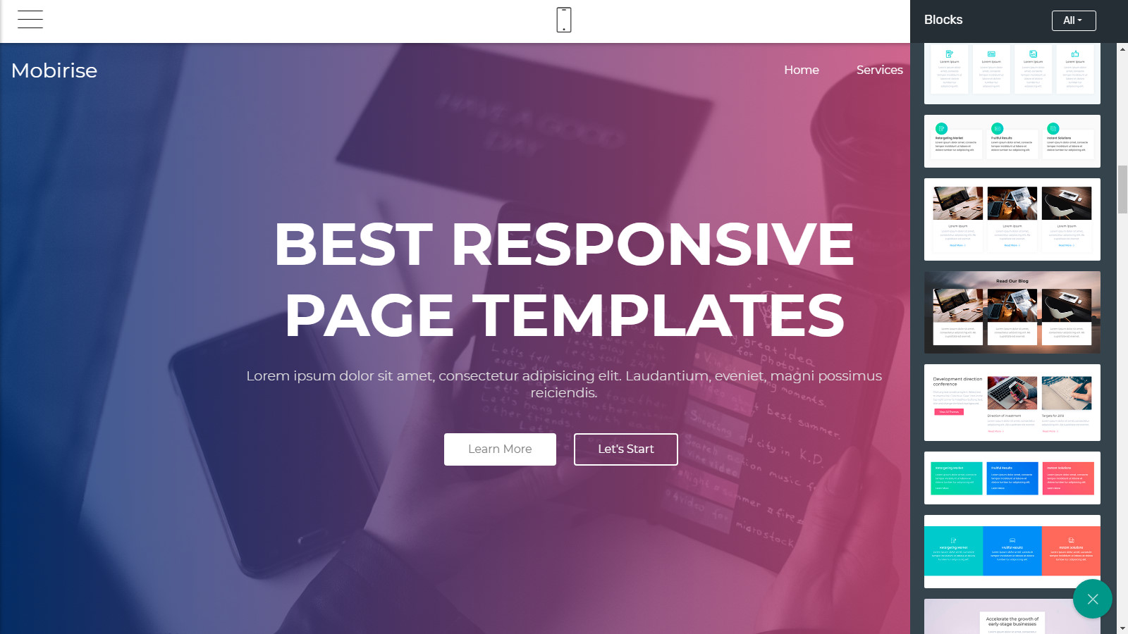 html5 webpage themes