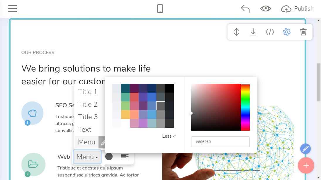 Drag and Drop Web Builder