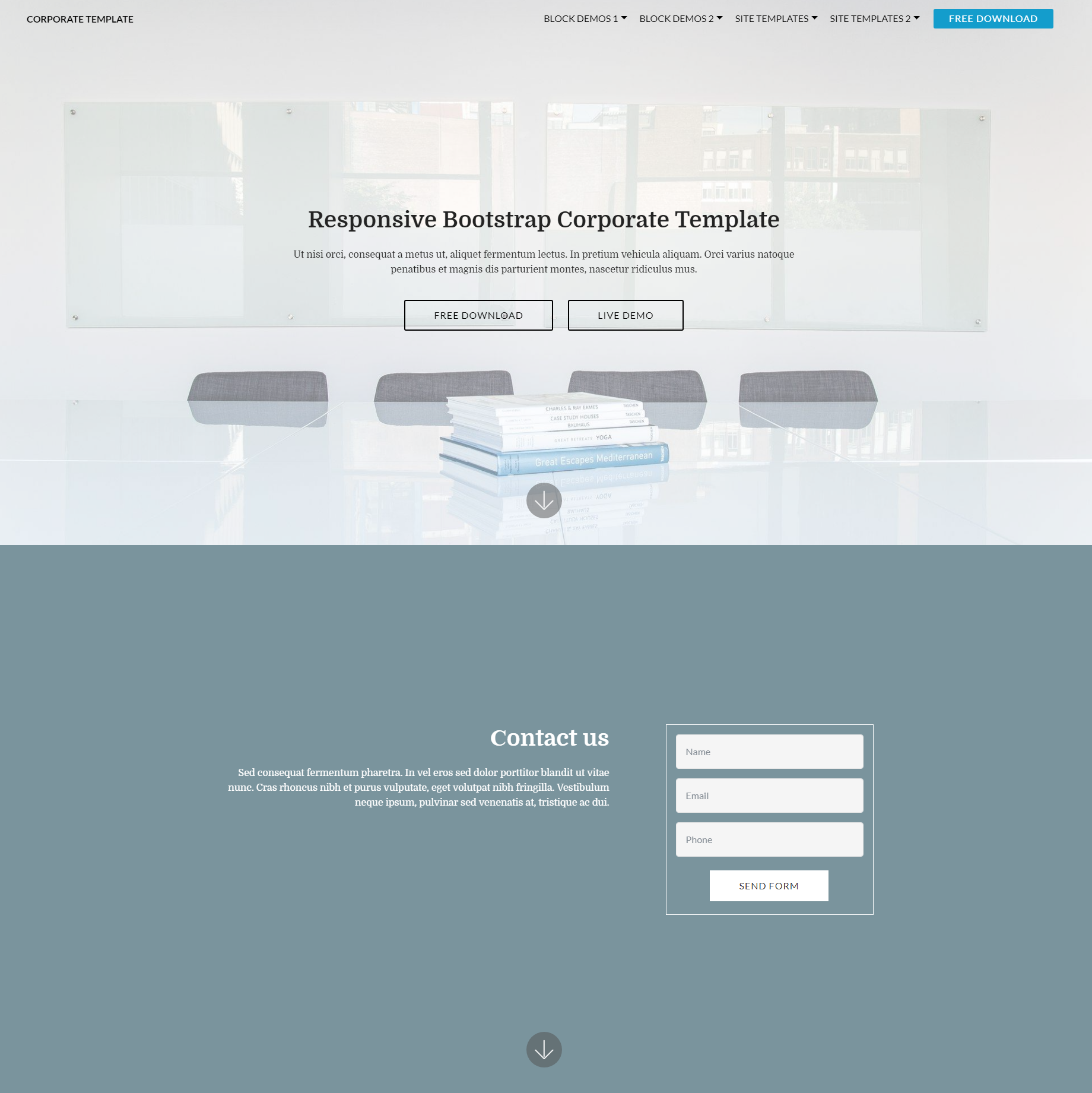 Free Download Bootstrap Corporate Themes