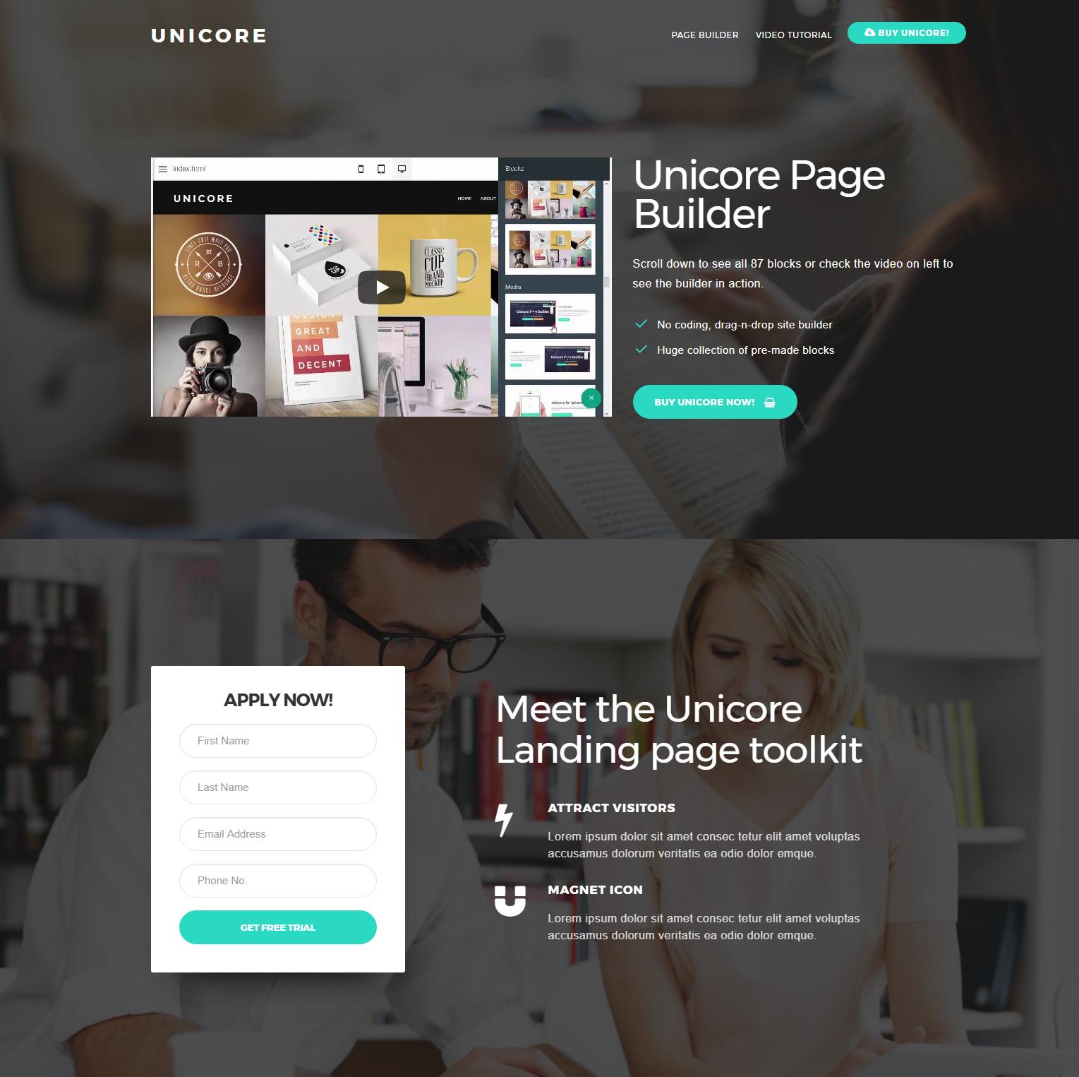 HTML5 Bootstrap Unicore Templates